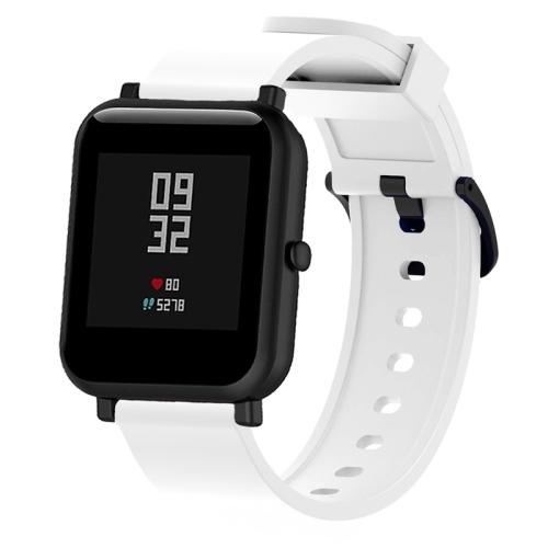 Silicone Glossy Sport Wrist Strap for Huami Amazfit Bip Lite Version 20mm (White)