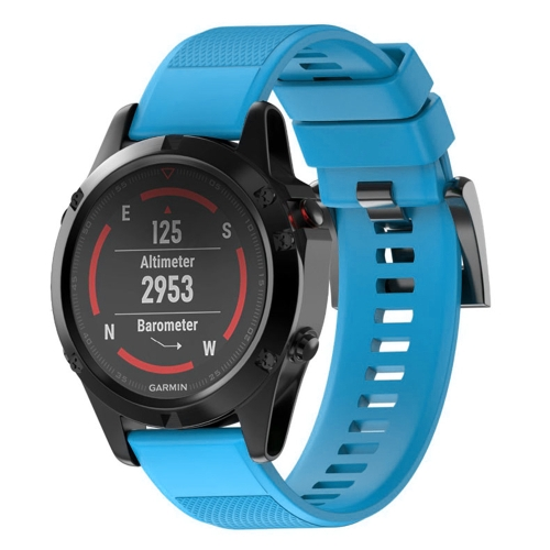 Quick Removable Silicone Wrist Strap for Fenix 5 22mm(Sky Blue)