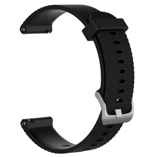 Smart Watch Silicone Wrist Strap Watchband for POLAR Vantage M 20cm(Black)