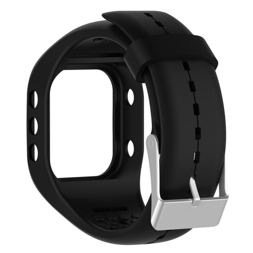 Smart Watch Silicome Wrist Strap Watchband for POLAR A300 (Black)