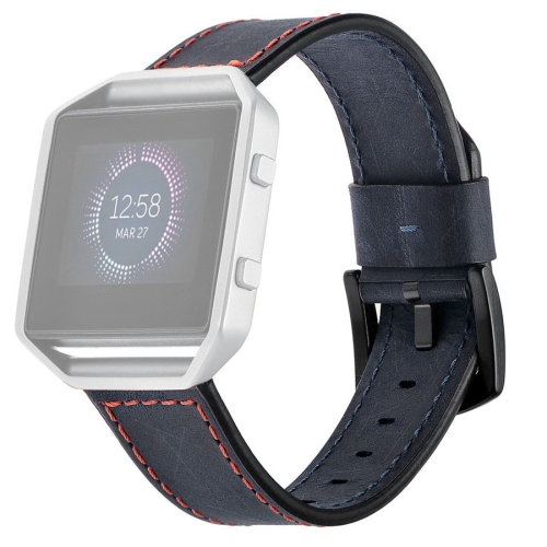 Buy For Fitbit Blaze Smart Watch Pull-up Leather Replacement Watch Band Strap Bracelet, Host not Included, Blue for $9.73 in SUNSKY store