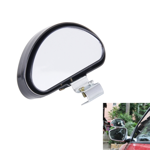 Buy Rear View Blind Spot Mirror Universal Adjustable Wide Angle Auxiliary Mirror, Black for $1.48 in SUNSKY store