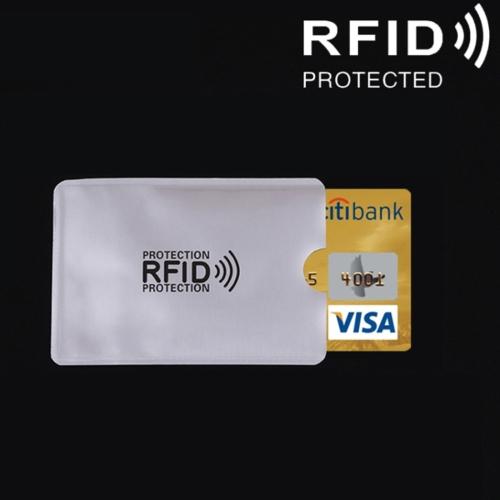 Aluminum Foil RFID Blocking Credit Card ID Bank Card Case Card Holder Cover, Size: 9.1*6.3cm