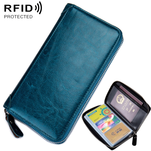 Turquoise Triangle Marble Leather Passport Holder Cover Case Blocking Travel Wallet