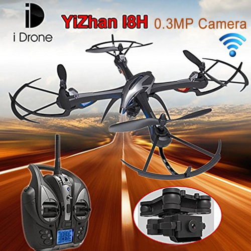 Buy Yizhan i Drone I8H 6-axis Gyro 4-Channel 2.4GHz 4-axis WiFi FPV RC Mini Quadcopter with 0.3MP Camera & Remote Control & LED Light for $68.85 in SUNSKY store