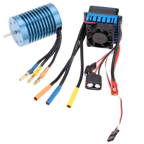 Buy 3650 4370KV 4P Sensorless Brushless Motor with 45A Brushless Electric Speed Controller for 1/10 RC Car Truck for $38.34 in SUNSKY store