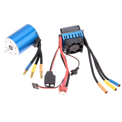 Buy 3650 3100KV 4P Sensorless Brushless Motor with 60A Brushless Electric Speed Controller for 1/10 RC Car Truck for $40.39 in SUNSKY store