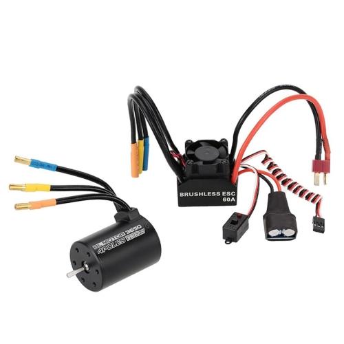 Buy 3650 3900KV 4P Sensorless Brushless Motor + 60A Brushless Splash-Proof Electronic Speed Controller ESC with 5.8V/3A Switch Mode BEC for 1/10 RC Car Truck for $40.39 in SUNSKY store