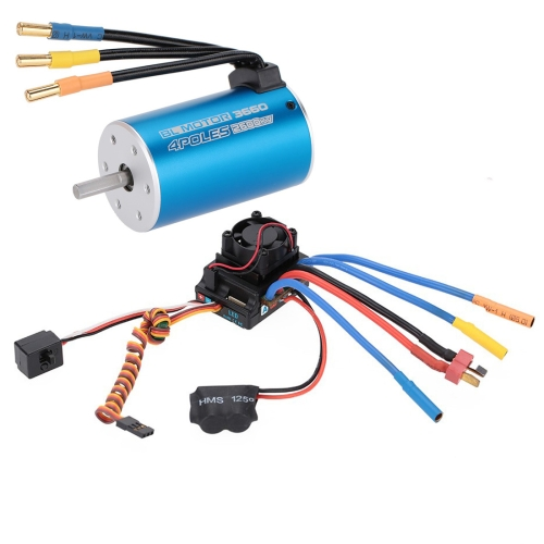 Buy 3660 2600KV 4P Sensorless Brushless Motor + 80A Brushless Splash-Proof Electronic Speed Controller with 5.3V/5A Switch Mode BEC for 1/8, 1/10 RC Car Truck for $51.02 in SUNSKY store