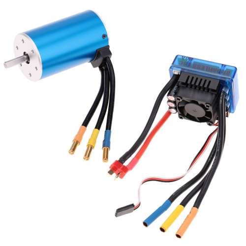 Buy 3660 2600KV 4P Sensorless Brushless Motor with 80A Brushless Electronic Speed Controller for 1/10 RC Car Truck for $51.02 in SUNSKY store