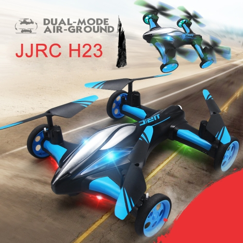 Buy JJR/C H23 Flying & Car Headless Mode 2.4GHz 6 Axis Drone RC Quadcopter with Remote Control, Blue for $22.67 in SUNSKY store