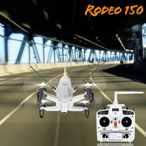 Buy Walkera Rodeo 150 RC Quadcopter with 600TVL Camera / 5.8G Real-time Image Transmission / DEVO 10 Remote Controller, Left Hand Throttle, White for $241.84 in SUNSKY store