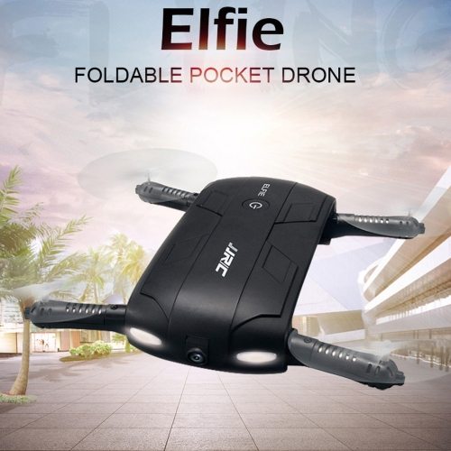 Buy JJR/C H37 Elfie 6-axis Gyro Drone WiFi Control Mini Foldable Quadcopter with 0.3MP Camera, Altitude Mode, Self-timer, 360 Degree Flips, Headless Mode, One Key Return, Black for $45.17 in SUNSKY store