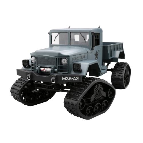 HD001B Four Wheel Drive Off-Road Climbing Load WIFI Control Real Walking Time Transmission Truck for Kids with LED Lights(Blue)