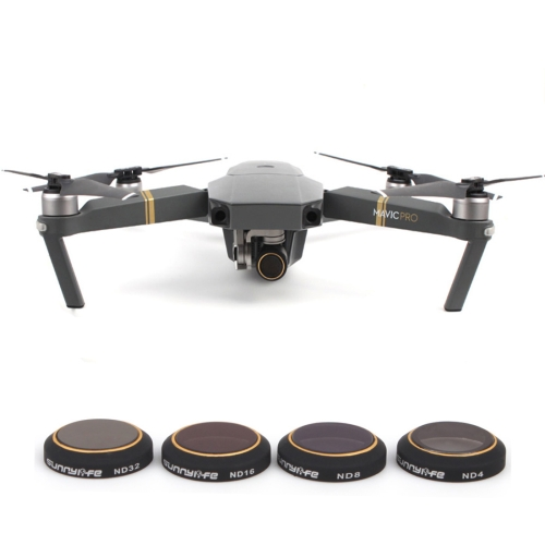 Buy 4 in 1 HD Drone Camera ND32 / 16 / 8 / 4 Lens Filter Set for DJI Mavic Pro for $24.11 in SUNSKY store