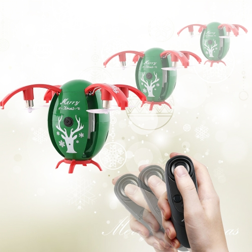 Buy JJR/C H66 X-mas Egg Christmas WiFi FPV Drone 2.4GHz RC Helicopter with 720P Camera & Remote Controller, Altitude Hold Mode, Gravity Sensor, Green for $34.51 in SUNSKY store