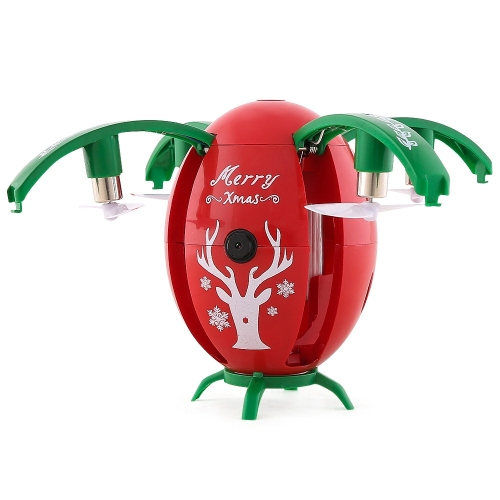 Buy JJR/C H66 X-mas Egg Christmas WiFi FPV Drone 2.4GHz RC Helicopter with 720P Camera & Remote Controller, Altitude Hold Mode, Gravity Sensor, Red for $34.51 in SUNSKY store