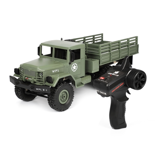 WPL B-16 Full Body 1:16 Mini 4WD RC Military Truck Control Car Toy (Green)