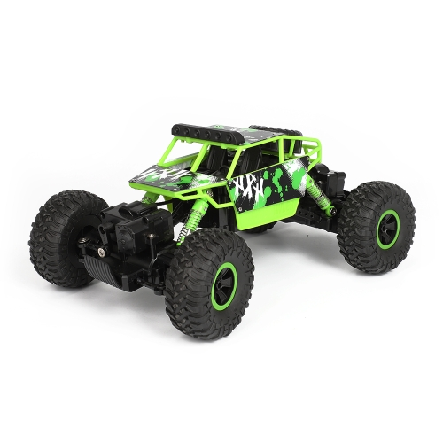 X Power S-001 1:18 Mini 2.4G 4WD RC Crawler Off Road Car, 130 Strong Magnetic Carbon Brush Motor (Green) hsp 1 10 off road buggy body 2pcs 31 17 6cm 10706 10707 106ma2 rc car electric rc car bodyshell for 94107 94107pro