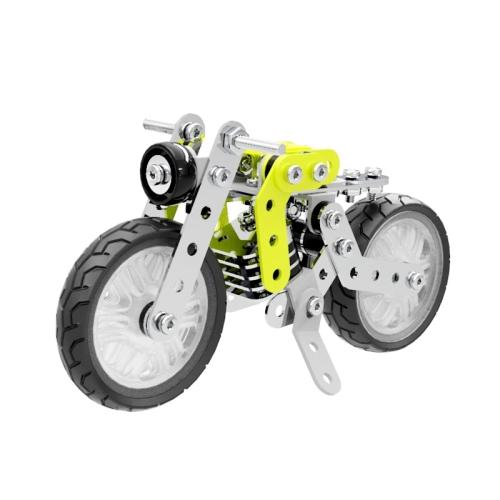 MoFun ZHIBO SW-001 120 PCS DIY Stainless Steel Retro Motorcycle Assembling Blocks
