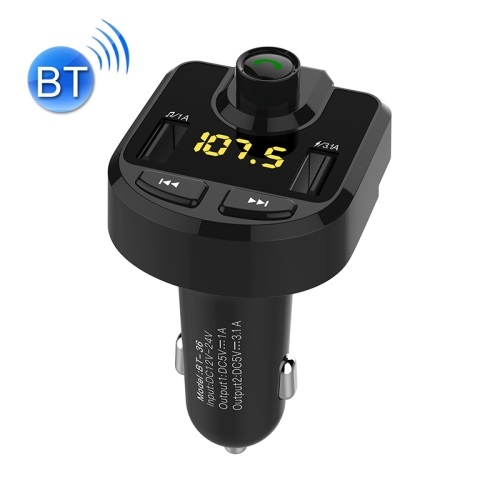 Bluetooth FM Transmitter Wireless In-Car Radio Adapter Music Player Hands-Free Calling Car Kit, Dual USB Charger, Support Bluetooth / Micro SD Card / TF Card / USB Disk 7 inch universal 2 din hd bluetooth car radio mp5 player multimedia radio entertainment usb tf fm aux input