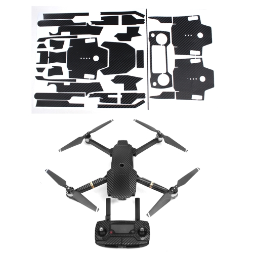 Carbon Fiber Sticker Kit for DJI Mavic Pro Quadcopter & Remote Controller & Battery(Black)