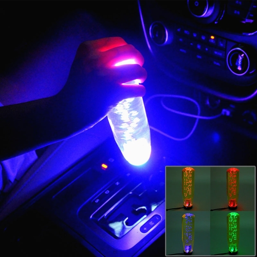 Buy Crystal Colorful Light Car Breathing Racing Dash LED Magic Lamp Gear Head Shift Knob with Base, Size: 15.0 * 4.5 * 3.1 cm, Yellow for $12.42 in SUNSKY store