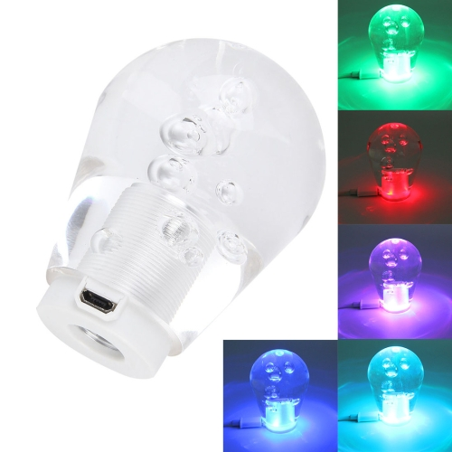 Buy Crystal Colorful Light Car Breathing Racing Dash LED Magic Lamp Gear Head Shift Knob with Base, Size: 7.5 * 5.0 * 3.0 cm, Transparent for $11.31 in SUNSKY store