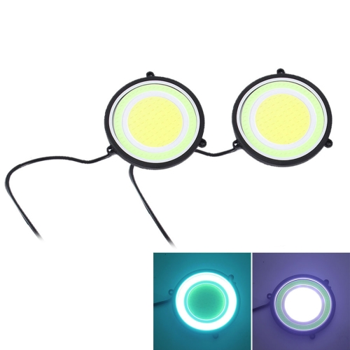 Buy 2 PCS DC 12V 10W 6000K Circular Car DRL Daytime Running Lights Lamp (White Light + Ice Blue Light) for $4.67 in SUNSKY store