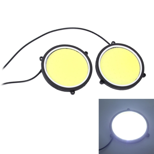 Buy 2 PCS DC 12V 10W 6000K Circular Car DRL Daytime Running Lights Lamp (White Light) for $4.67 in SUNSKY store