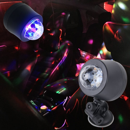 Buy 5V 6W Colorful Car Decoration DJ Light Sound Activated Strobe Effect Atmosphere Light Star Music Light Lamp with 6 RGB LED Lights, Cable Length:4m (Colorful Light) for $4.18 in SUNSKY store