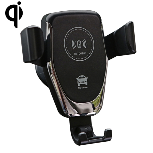 Car Air Outlet Bracket Wireless Charger Qi Standard Wireless Charger(Black)