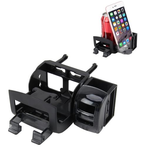 Car Interior Cup Holder Drink Beverage Storage Box Multi-function Phone Holder