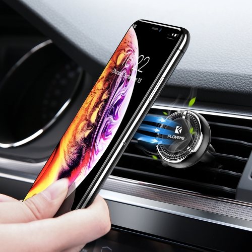 FLOVEME Auto Car Air Outlet Vent Aromatherapy Magnetic Mount Phone Holder Stand (Black)