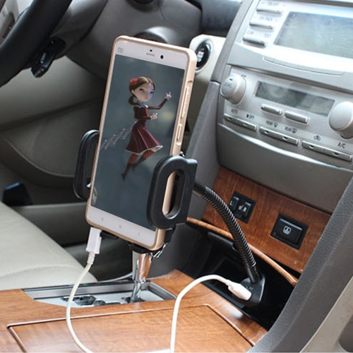 Buy SHUNWEI SD-1162 Universal Multi-functional Cell Phone Charger Holder Car Charger Mount Cradle with USB Port 2A for $6.54 in SUNSKY store
