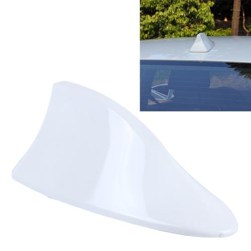 Universal Car Antenna Aerial Shark Fin Radio Signal For Auto SUV Truck Van(White)