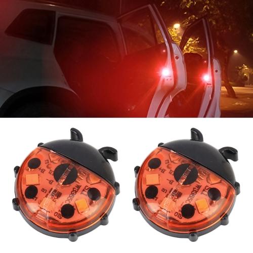 Ladybug Shape Car Door Anti-collision Warning Light (Red Light)
