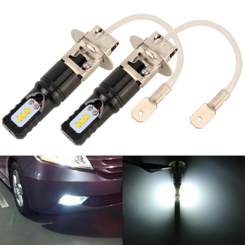 2 PCS H3 DC12V / 4.5W / 6000K / 360LM Car LED Fog Light with 6 CSP Lamp Beads, White Light (Black)