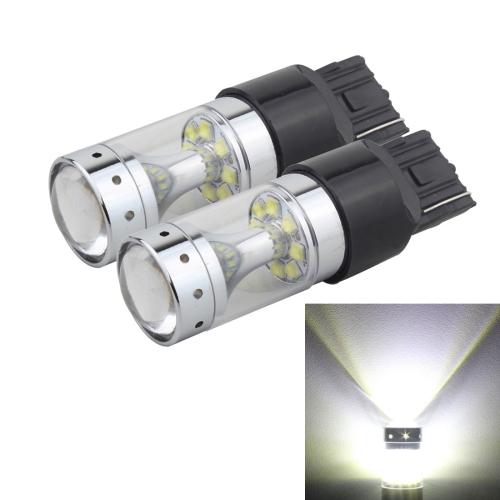 Buy 2 PCS 7440 60W 1200 LM 6000K Car Auto Brake Lights Turn Light Backup Light with 12 CREE XB-D Lamps, DC 12V (White Light) for $13.47 in SUNSKY store