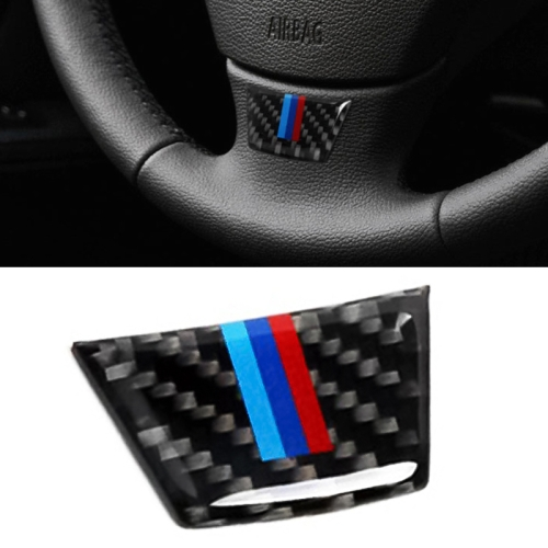 Car Carbon Fiber Steering Wheel Decorative Sticker for BMW E90 / E92