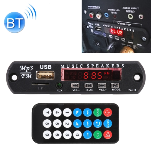 Car 12V Audio Bluetooth MP3 Player Decoder Board FM Radio TF USB 3.5 mm AUX, without Recording фото