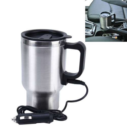sunsky stainless steel electric smart mug 12v car electric kettle heated mug car coffee cup. Black Bedroom Furniture Sets. Home Design Ideas