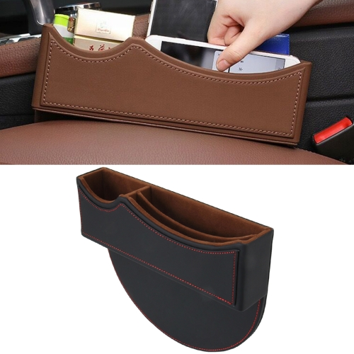 Buy Car Seat Crevice Storage Box with Interval Auto Gap Pocket Stowing Tidying for Phone Pad Card Coin Case Accessories, Black for $12.03 in SUNSKY store