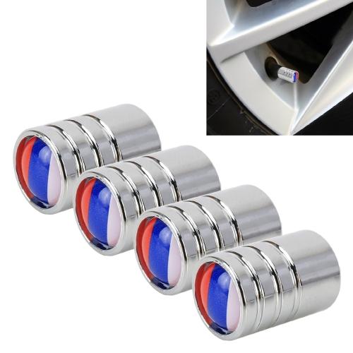 4 PCS Russian Flag Pattern Gas Cap Mouthpiece Cover Gas Cap Tire Cap Car Motor Bicycle Tire Valve Caps