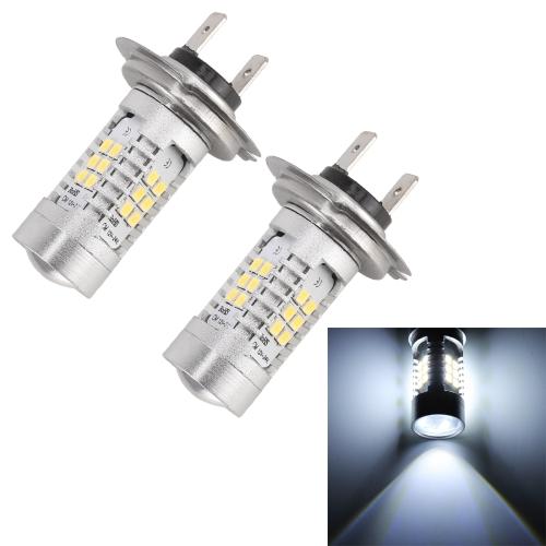 2 PCS MZ-H7-2835 10.5W 780LM 6500K 21 SMD 2835 LEDs Car DRL Headlights, DC 12~24V(White Light)