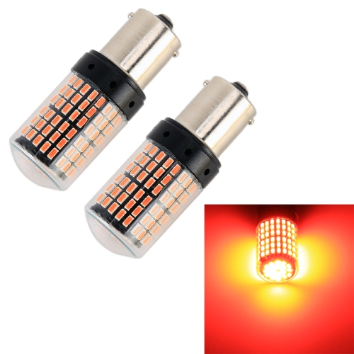 2 PCS 1156 / BA15S DC12V / 18W / 1080LM Car Auto Turn Lights with SMD-3014 Lamps (Red Light)