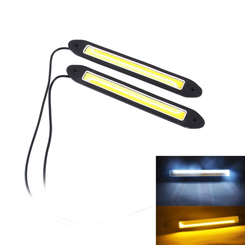Buy 2 PCS DC 12V 10W 1000LM 6000K Car DRL Daytime Running Lights Lamp (White Light + Yellow Light) for $4.72 in SUNSKY store