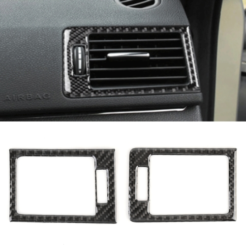 2 PCS Car Dashboard Right and Left Air Outlet Frame Carbon Fiber Decorative Sticker for Mercedes-Benz W204