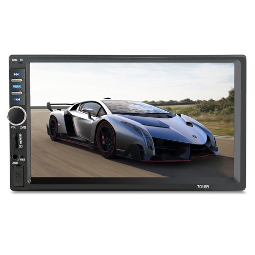Buy 7018B 7.0 inch HD Touch Screen Dual DIN Car Radio Bluetooth Stereo MP3 / MP4 / MP5 Player with Remote Control, Support FM / TF Card / USB Flash Disk for $48.72 in SUNSKY store
