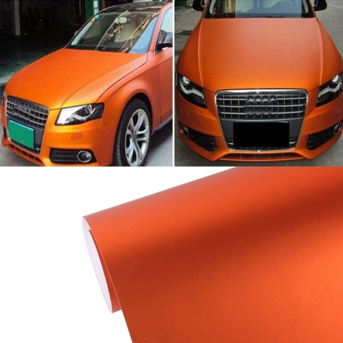Buy 7.5m * 0.5m Ice Blue Metallic Matte Icy Ice Car Decal Wrap Auto Wrapping Vehicle Sticker Motorcycle Sheet Tint Vinyl Air Bubble, Orange for $16.14 in SUNSKY store